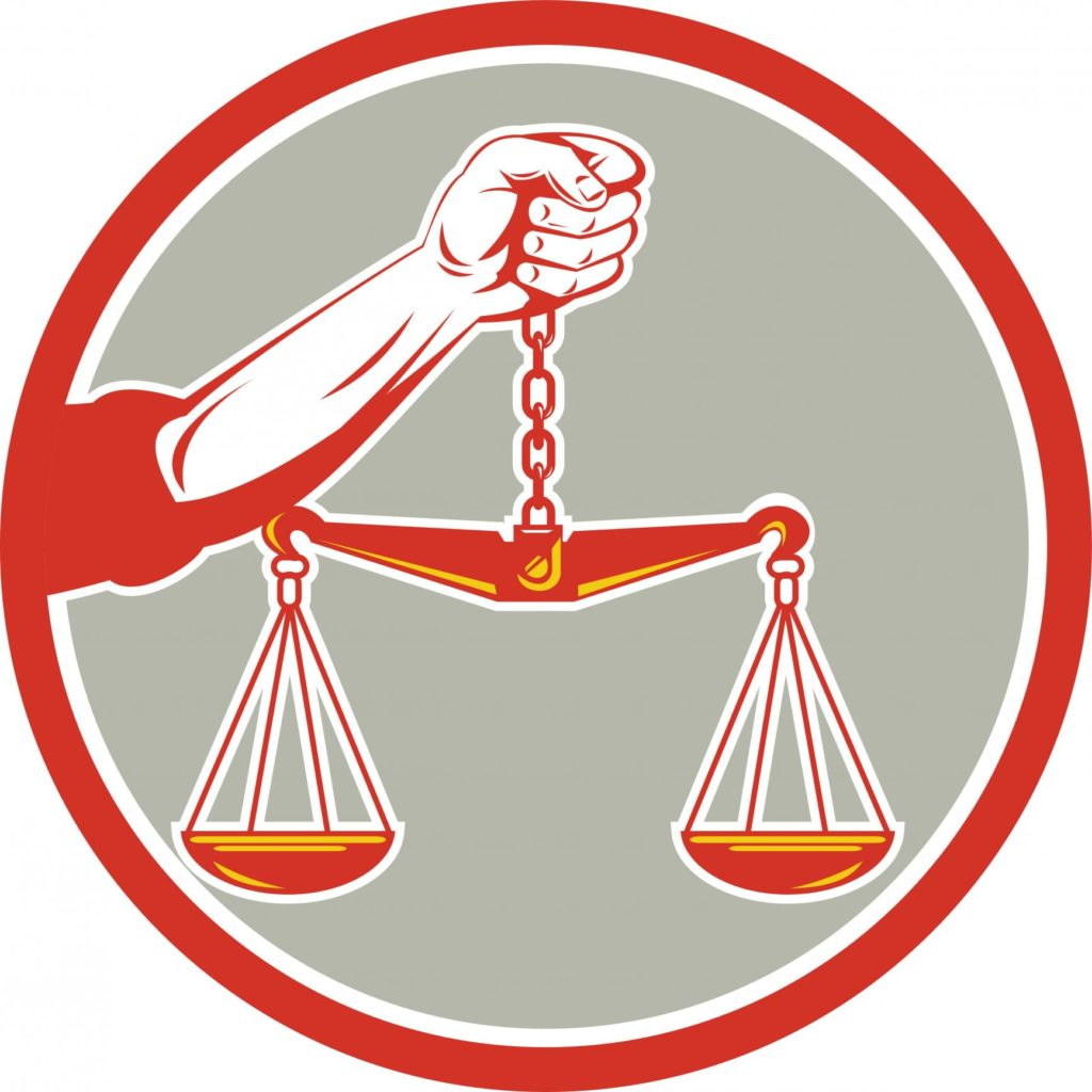 professional lawyer red and gray logo
